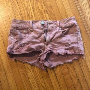 American Eagle High Waisted Stretch Shorts Size 4